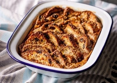 Arctic Caramel Bread and Butter Pudding