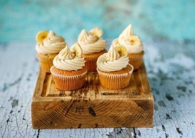 Banana and caramel cupcakes