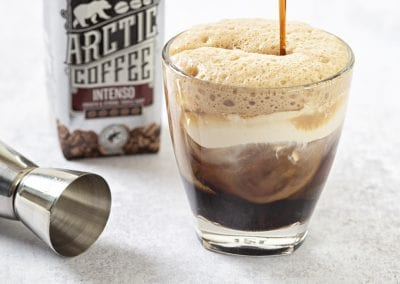 Arctic Cheat's whipped white Russian Cocktail